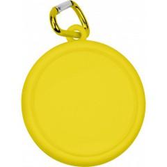 Zložljiv kozarec na obesku s karabinom 220ml, rumena-transparentna 3878-06