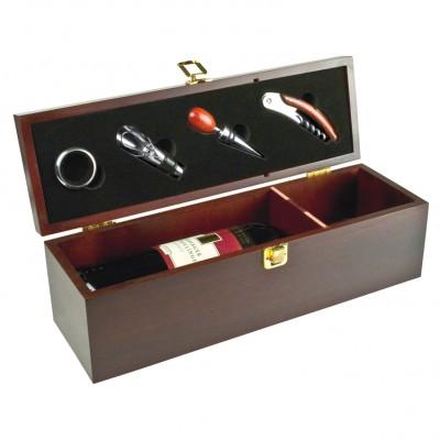 Elegantna lesena škatla za vino in buteljke 36cm Jesolo, rjava 400701