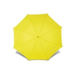 Velik dežnik z ravnim pena ročajem in črnim ogrodjem in etuijem s pasom 130cm, rumena 4087-06