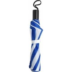 Zložljiv dežnik z etuijem v barvi 90cm, modra-bela 4092-45