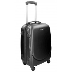Kovček Trolly Air-Line Black - srednji, črn - 45×24/28×66 cm 4108098