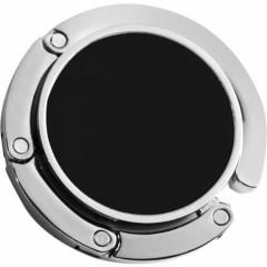 Kovinsko obešalo za na rob mize - za torbico, črna-srebrna 4154-01