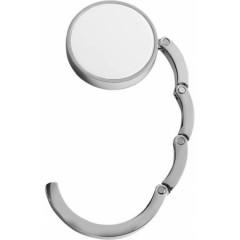 Kovinski obešalnik za na mizo - za torbico, bela-srebrna 4154-02