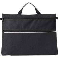 Konferenčna torba z ročajem in dodatnim prostorom z zadrgo, črna 4343-01