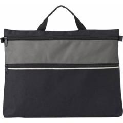 Konferenčna torba z ročajem in dodatnim prostorom z zadrgo, siva-črna 4343-03