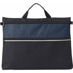 Konferenčna torba z ročajem in dodatnim prostorom z zadrgo, modra-črna 4343-05