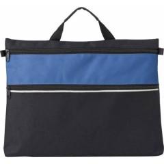Konferenčna torba z ročajem in dodatnim prostorom z zadrgo, modra-črna 4343-23