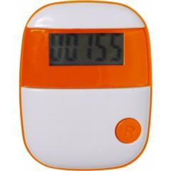 Pedometer - števec korakov s prikazom razdalje in porabo kalorij, oranžna 4453-07