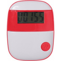 Pedometer - števec korakov s prikazom razdalje in porabo kalorij, rdeča 4453-08