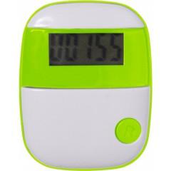 Pedometer - števec korakov s prikazom razdalje in porabo kalorij, zelena 4453-19