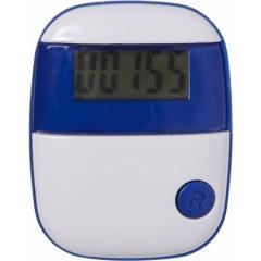 Pedometer - števec korakov s prikazom razdalje in porabo kalorij, modra-bela 4453-23