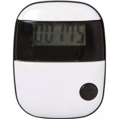 Pedometer - števec korakov s prikazom razdalje in porabo kalorij, bela-bela 4453-40