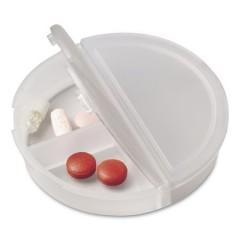 Okrogla škatlica za tablete s prekati, bela 4490-21