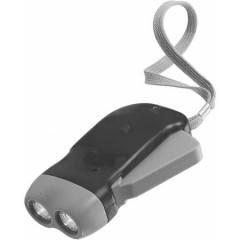 Dinamo LED svetilka na ročno polnjenje, črna 4532-01