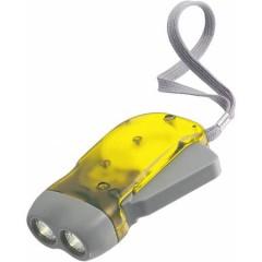 Dinamo LED lučka na ročno polnjenje, rumena 4532-06