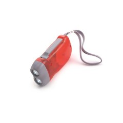 Dinamo svetilka na ročno polnjenje, rdeča 4532-08