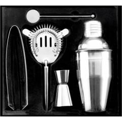 Kovinski set za pripravo koktejlev Cocktail shaker, srebrna 4680-32