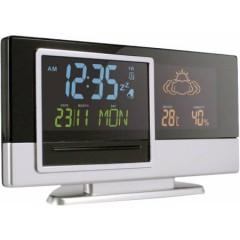 Barvna namizna vremenska postaja z adapterjem in baterijami, črna-siva 4763-50