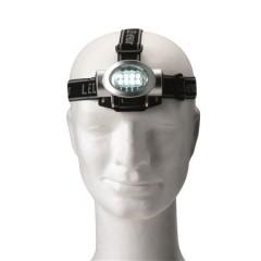Naglavna LED lučka - svetilka z 8 žarnicami, srebrna 4803-32