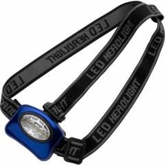 LED svetilka - lučka za na glavo iz aluminija in 5 žarnicami, modra-črna 4859-23