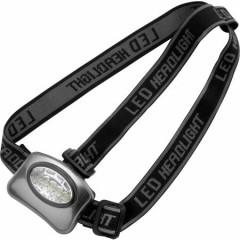 LED svetilka - lučka za na glavo iz aluminija in 5 žarnicami, siva-črna 4859-32