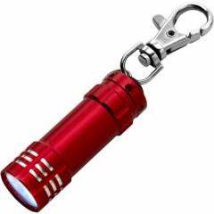 Kovinska LED lučka na obesku za ključe s karabinom, rdeča 4861-08