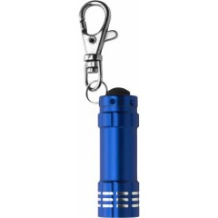 Kovinska LED lučka na obesku za ključe s karabinom, modra 4861-23