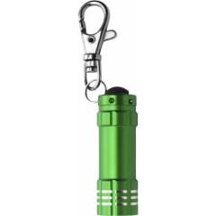 Kovinska LED lučka na obesku za ključe s karabinom, zelena 4861-29