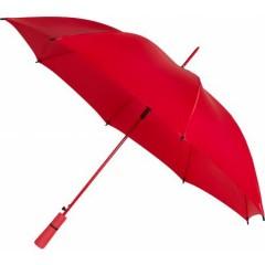 Avtomatski dežnik z ogrodjem v barvi dežnika in pena ročajem 95cm, rdeča 4937-08