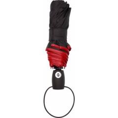 Polno-avtomatski zložljiv dežnik s samodejnim odpiranjem in zapiranjem, rdeča 4939-08