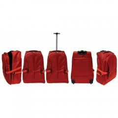 Kovček veliki na koleščkih Eva 51954V, rdeča