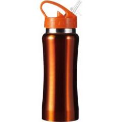 Kovinska steklenica - bidon za kolo 600ml, oranžna 5233-07
