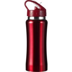 Kovinska športna steklenička - bidon za kolo 600ml, rdeča 5233-08