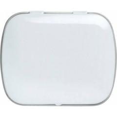 Kovinska škatlica z mint bonboni brez sladkorja, bela 5248-02