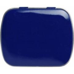 Kovinska škatlica z mint bonboni brez sladkorja, modra 5248-05