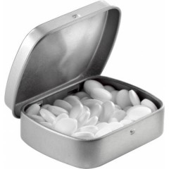 Kovinska škatlica z mint bonbončki brez sladkorja, siva 5248-32