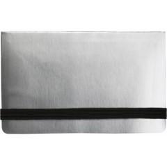 Beležka z listi in memo lističi z žepom in elastiko, siva 5348-32