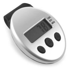 Pedometer - števec korakov s prikazom razdalje in porabo kalorij, črna-siva 5521-50