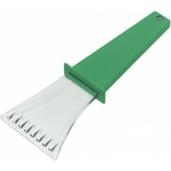 Strgalo za led - prozorno z barvnim ročajem, zelena-transparentna 5815-04