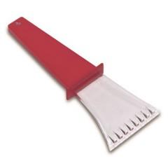 Strgalo za led - prozorno z barvnim ročajem, rdeča-transparentna 5815-08