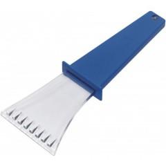 Strgalo za led - prozorno z barvnim ročajem, modra-transparentna 5815-23
