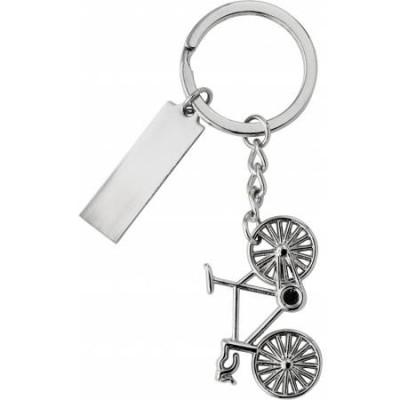 Obesek za ključe s figuro kolesa v darilni škatlici Bike, siva 6026-32
