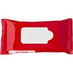 Promocijski reklamni vlažilni robčki, rdeča-bela 6080-08