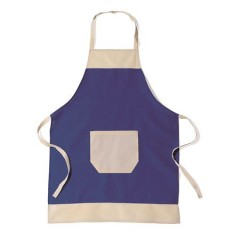 Kuhinjski predpasnik iz bombaža z žepim, modra 6198-05