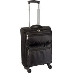 Lahka potovalna torba na štirih koleščkih s teleskopskim ročajem, črna 6221-01