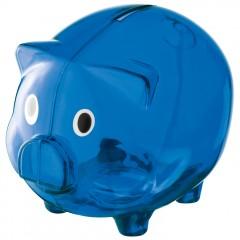 Hranilnik - šparovec za denar v obliki pujsa Leicester, modra 623504
