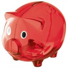 Pujsek - šparovček za denar v obliki pujsa Leicester, rdeča 623505