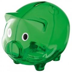 Šparovec - hranilnik za denar v obliki pujsa Leicester, zelena 623509