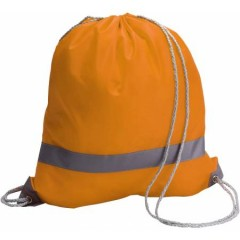 Nahrbtnik - torba za športno opremo z odsevnim trakom, oranžna 6238-07