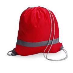 Nahrbtnik - torba za športno opremo z odsevnim trakom, rdeča 6238-08